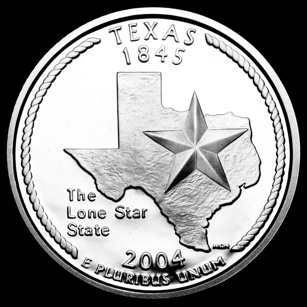 2004 S Texas Mint Silver Proof Statehood Washington
