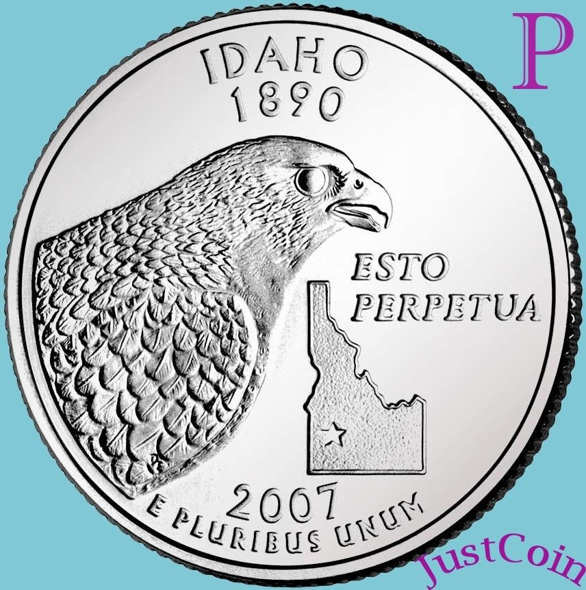 Fresh 2007 P Idaho State Id Quarter Uncirculated From U S State Quarter Set Value Of New Washington 50 State Quarters Program 1999 2008 State Quarter Set Value