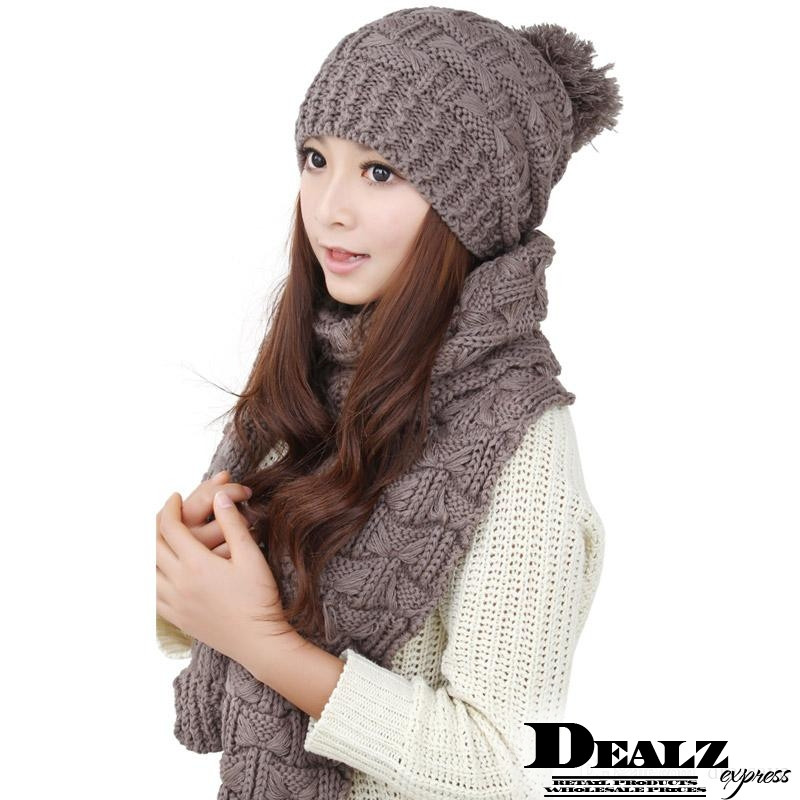 Fresh 2016 Free Shipping La S Women Knitted Scarf and Hat Set Ladies Knitted Hats Of Adorable 50 Pictures Ladies Knitted Hats