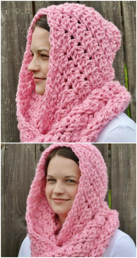 Fresh 26 Cozy Diy Infinity Scarves with Free Patterns and Free Hooded Scarf Crochet Pattern Of Awesome 40 Models Free Hooded Scarf Crochet Pattern