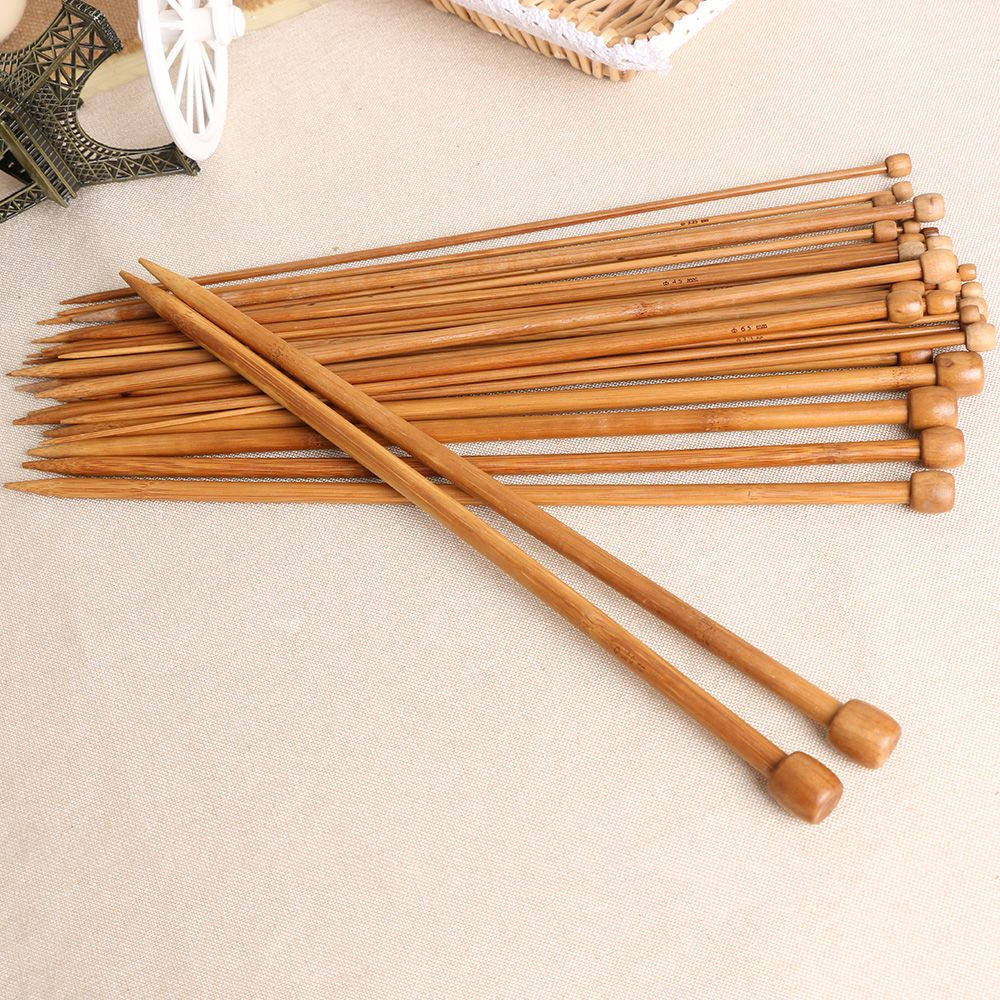 Fresh 36pcs 18 Sizes Bamboo Wood Knitting Needles Set Single Knitting Needle Sets Of Superb 42 Pictures Knitting Needle Sets