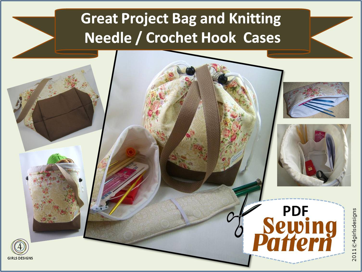 Fresh 4 Girls Designs New Sewing Patterns for Knitters Crochet Project Bag Pattern Of Incredible 47 Models Project Bag Pattern
