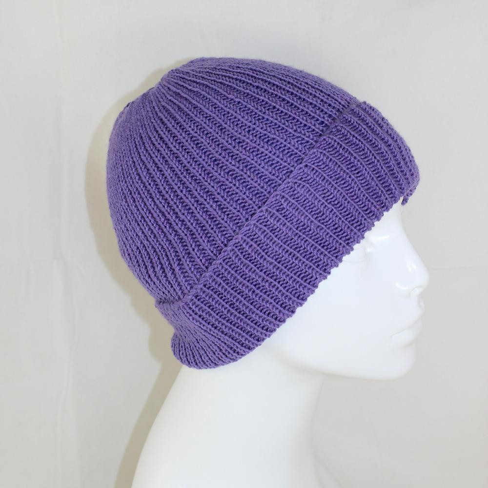 4 Ply Uni Rib Beanie Hat Knitting pattern by