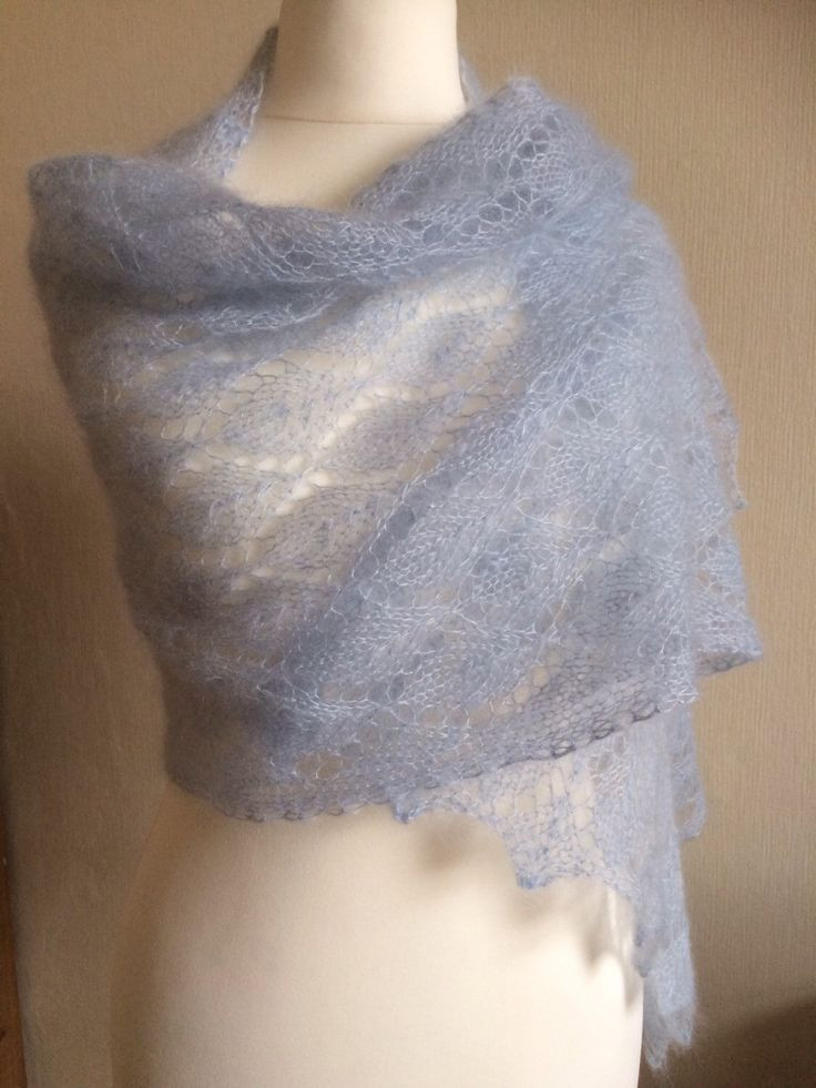 46 best images about Hand knitted Lace shawls on Pinterest