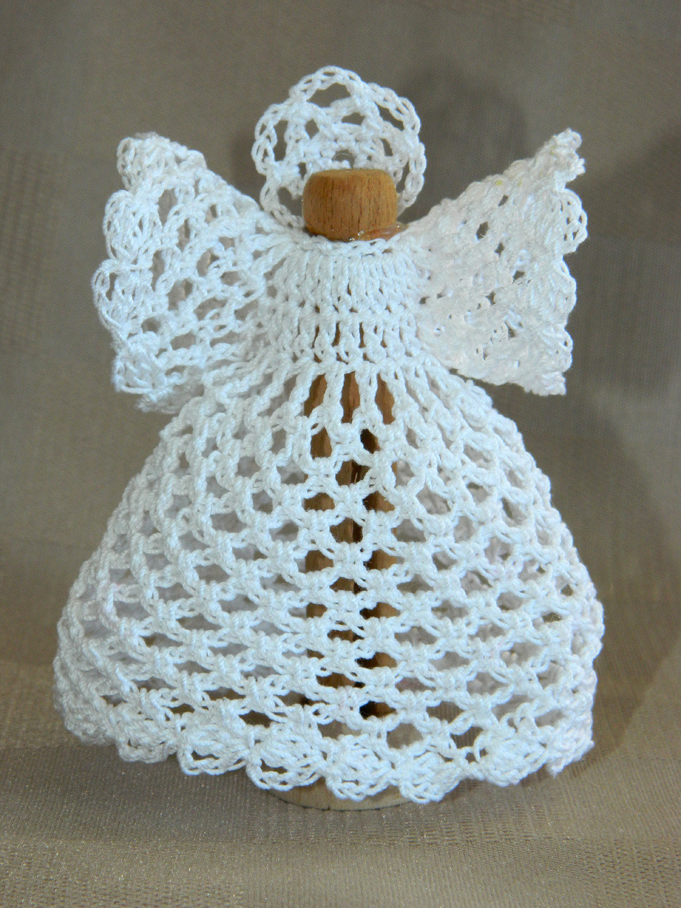 """Fresh 4"""" Crocheted Clothespin Angel All White Holiday All Crochet Of Amazing 44 Ideas All Crochet"""