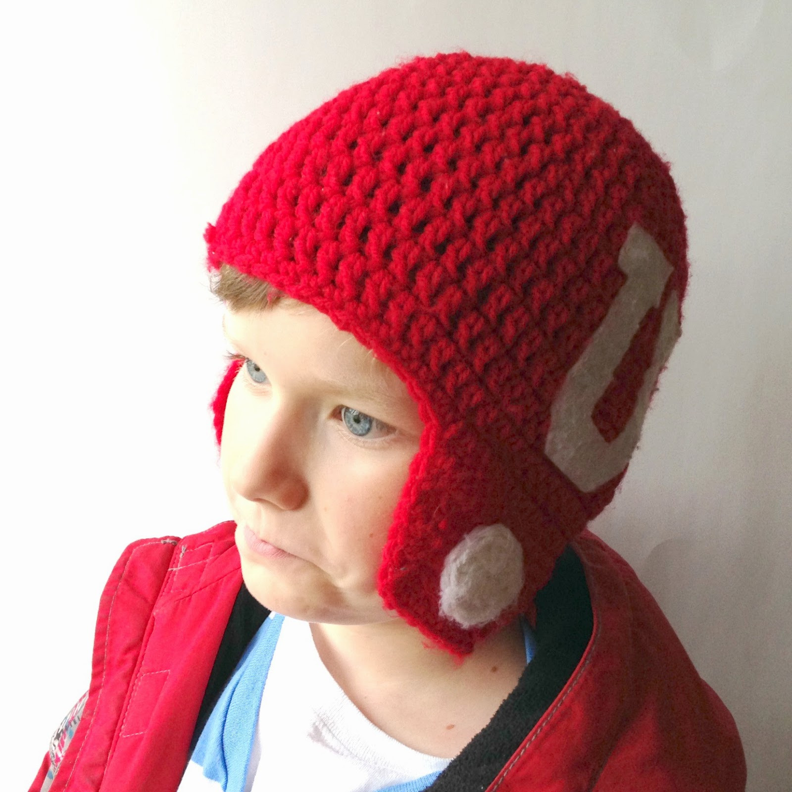 5 Little Monsters Crocheted Football Helmet Hats Free