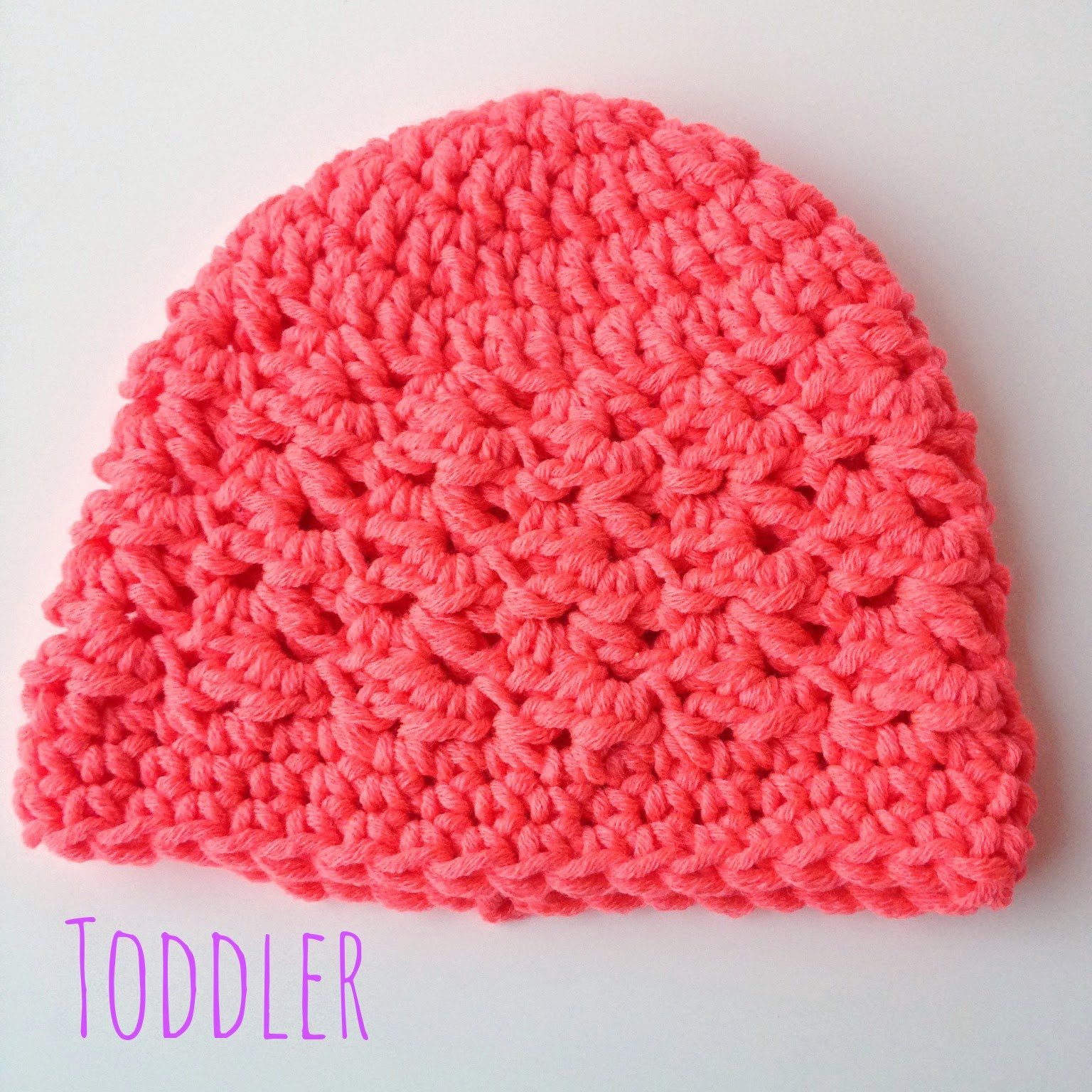 5 Little Monsters Textured Toddler Beanie Free Crochet
