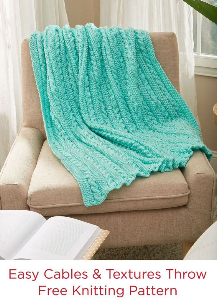 Fresh 599 Best Knit and Crochet Blankets Images On Pinterest Red Heart Free Knitting Patterns Of Unique 34 Models Red Heart Free Knitting Patterns
