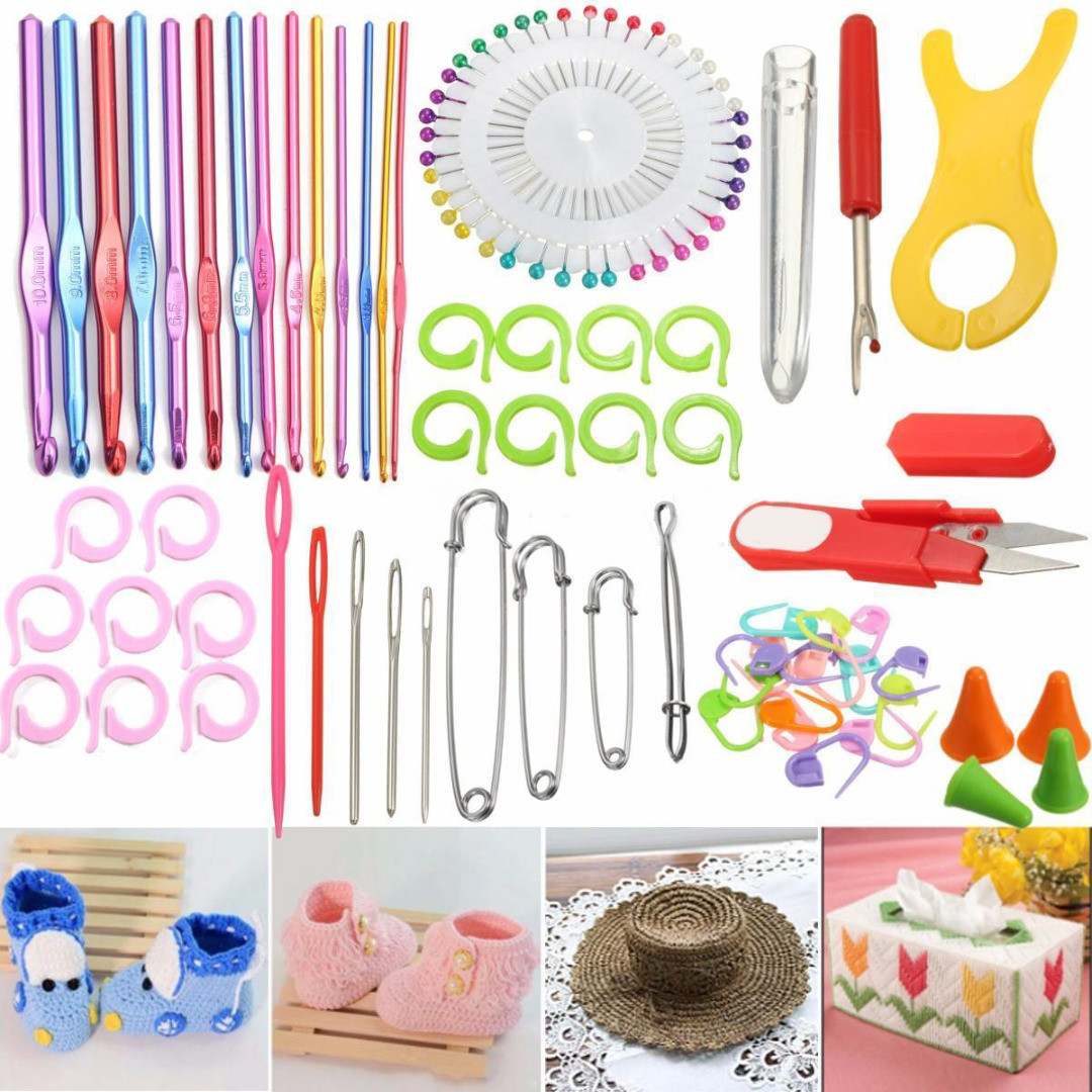 Fresh 73pcs Knitting Sewing Needles Crochet Hook Accessories Crochet Supplies Of Luxury 43 Photos Crochet Supplies
