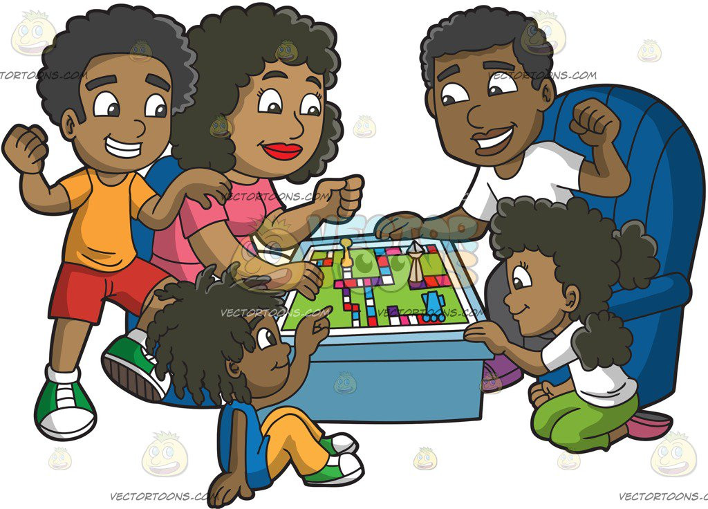 Fresh A Black Family Playing A Board Game – Clipart by Vector toons Board Games to Play with Family Of Incredible 45 Ideas Board Games to Play with Family