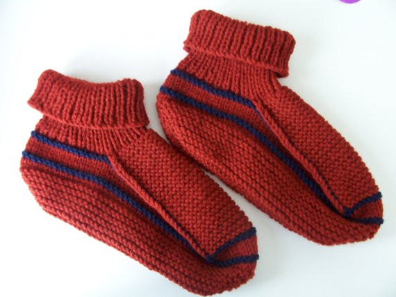 Fresh Adult Knitted Acrylic Yarn sock Slippers In by Knitted Booties for Adults Of Delightful 47 Images Knitted Booties for Adults