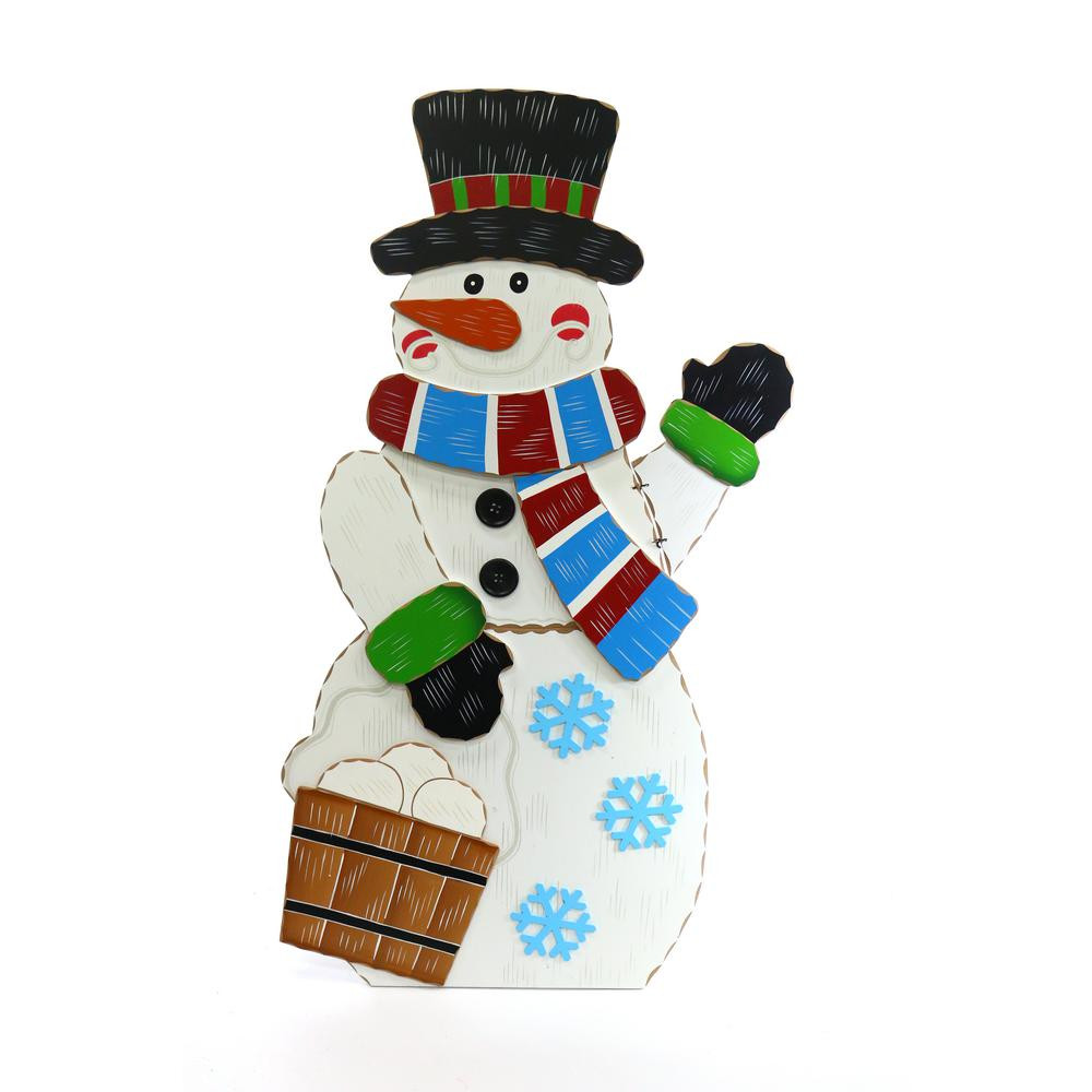 Fresh Alpine 36 In Wooden Christmas Snowman Decor Wqs110l the Christmas Snowman Decorations Of Adorable 41 Models Christmas Snowman Decorations