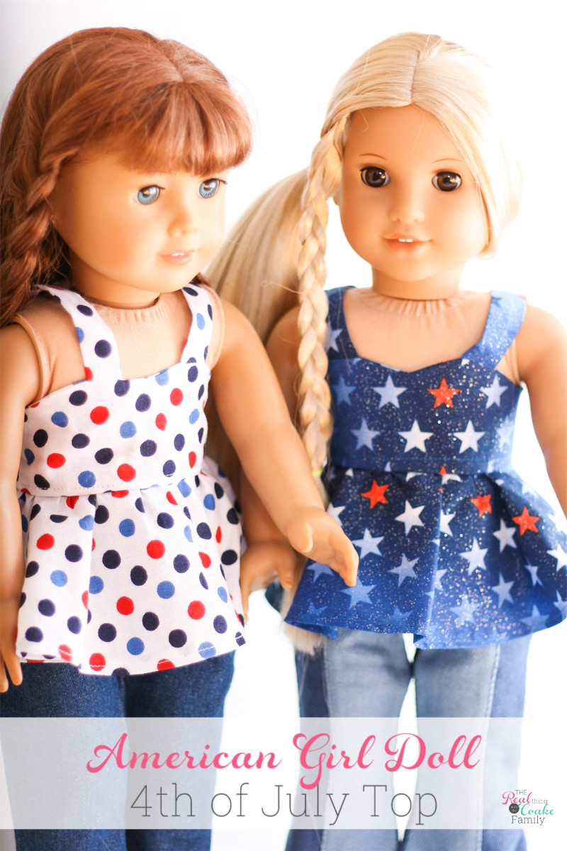 American Girl Doll 4th of July Top Free Doll Clothes Pattern