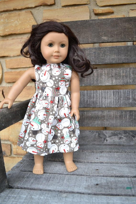 Fresh American Girl Doll Clothes Christmas Dress Gray Snowmen American Girl Doll Christmas Outfits Of Wonderful 40 Ideas American Girl Doll Christmas Outfits
