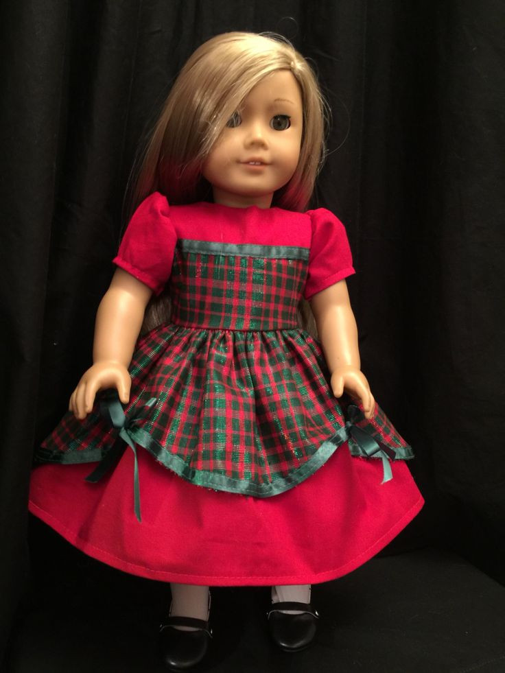 American Girl Doll Clothes Elegant Christmas Dress