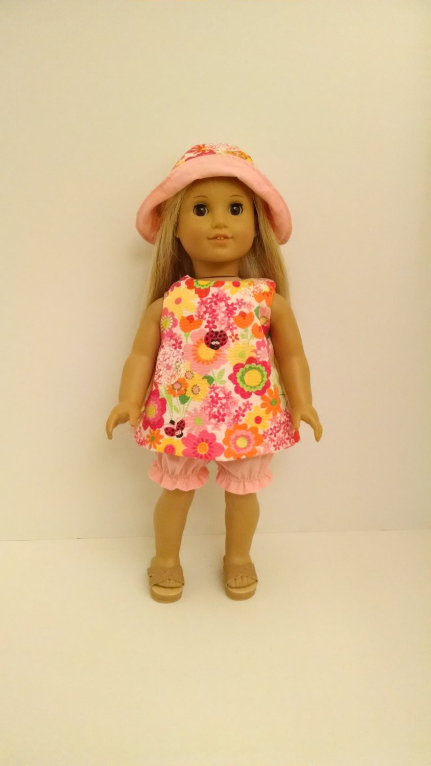 Fresh American Made Girl Doll Clothes Handmade 18 Inch Shorts Set American Doll Dresses Of Great 47 Images American Doll Dresses