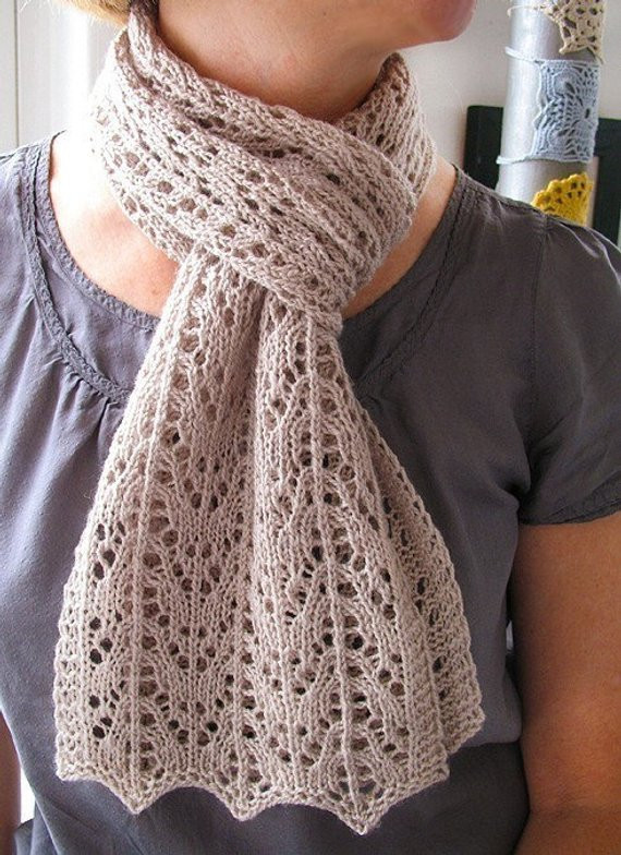 Fresh Anita Caroline Lace Scarf Knitting Pattern by Bluepeninsula Lacy Scarf Knitting Pattern Of Superb 46 Models Lacy Scarf Knitting Pattern