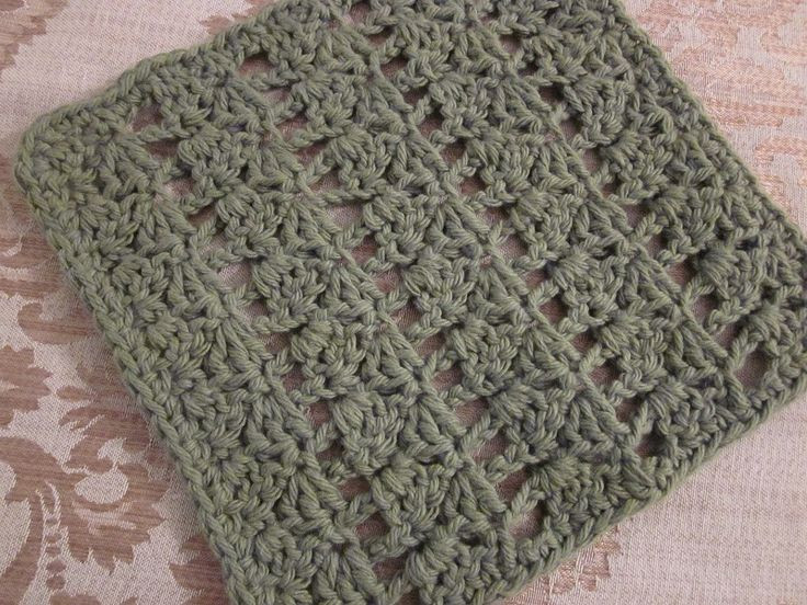 Another easy crochet dishcloth great for remnants