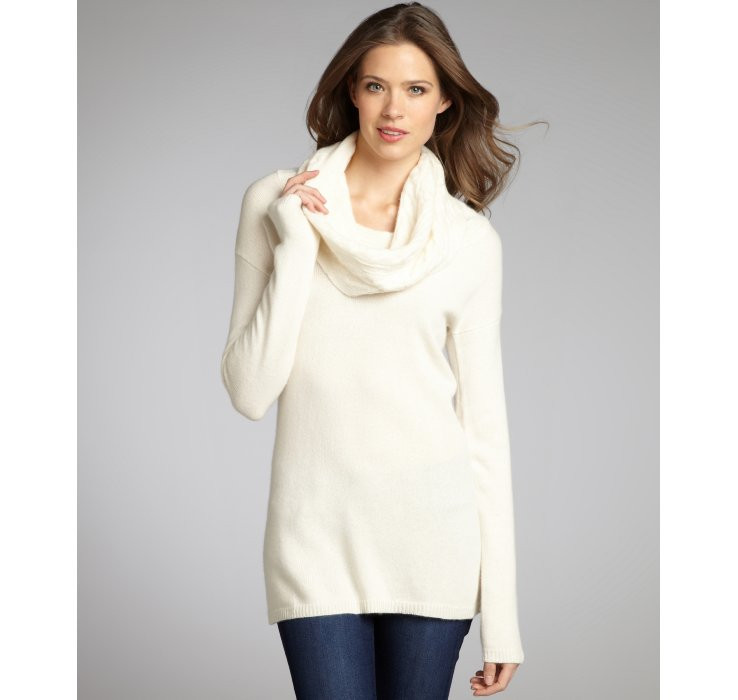 Fresh Autumn Cashmere F White Cashmere Cable Knit Cowl Neck Cowl Neck Knit Sweater Of Top 42 Pictures Cowl Neck Knit Sweater