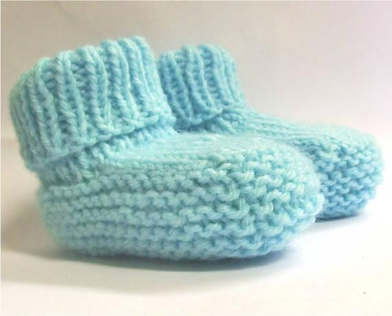 Baby Booties Knitting Pattern PDF newborn baby boys
