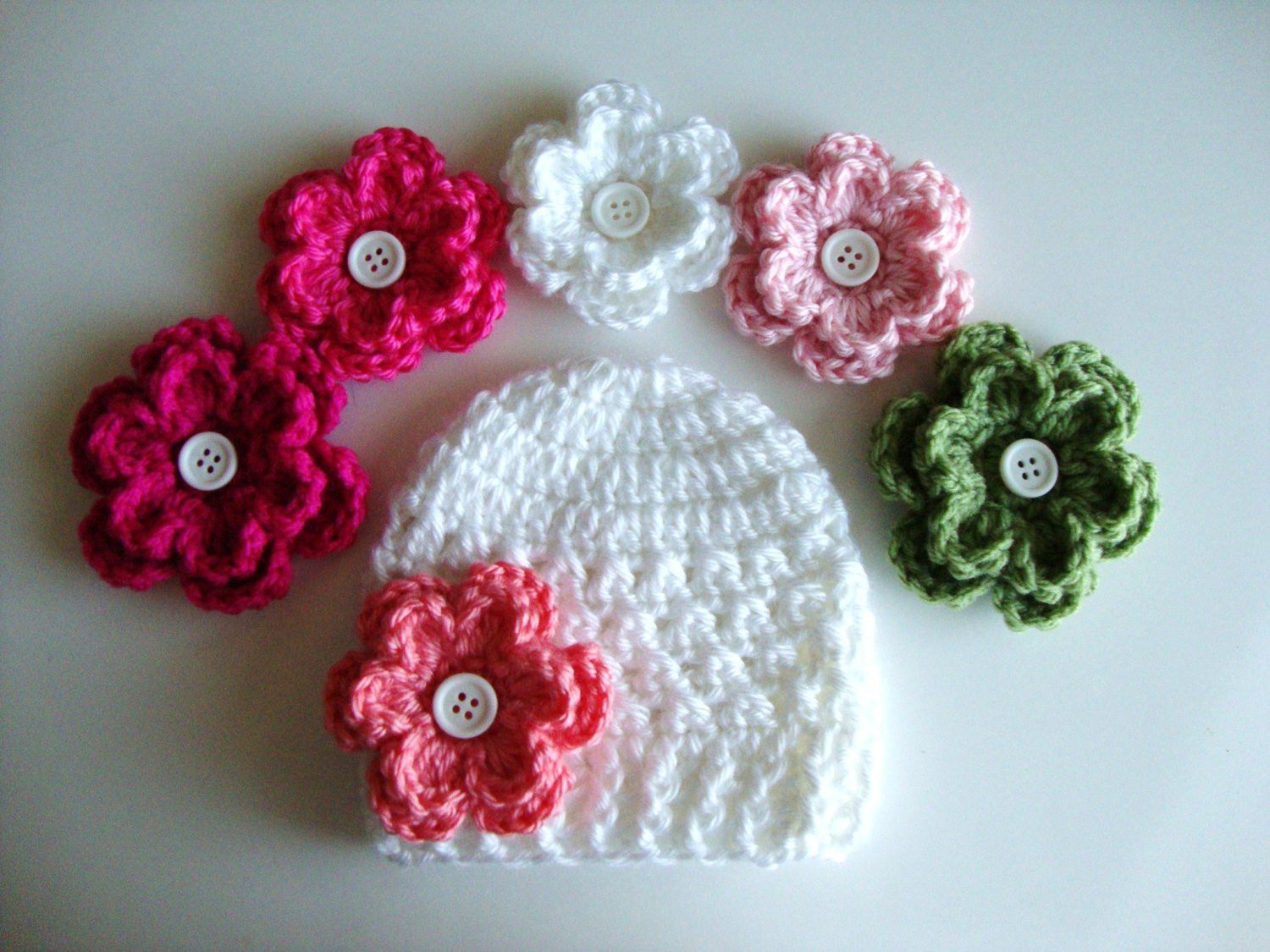 Fresh Baby Girl Crochet Flower Hat Pattern Preemie Up to 12 Months Crochet Flowers for Hats Free Patterns Of Contemporary 43 Pics Crochet Flowers for Hats Free Patterns