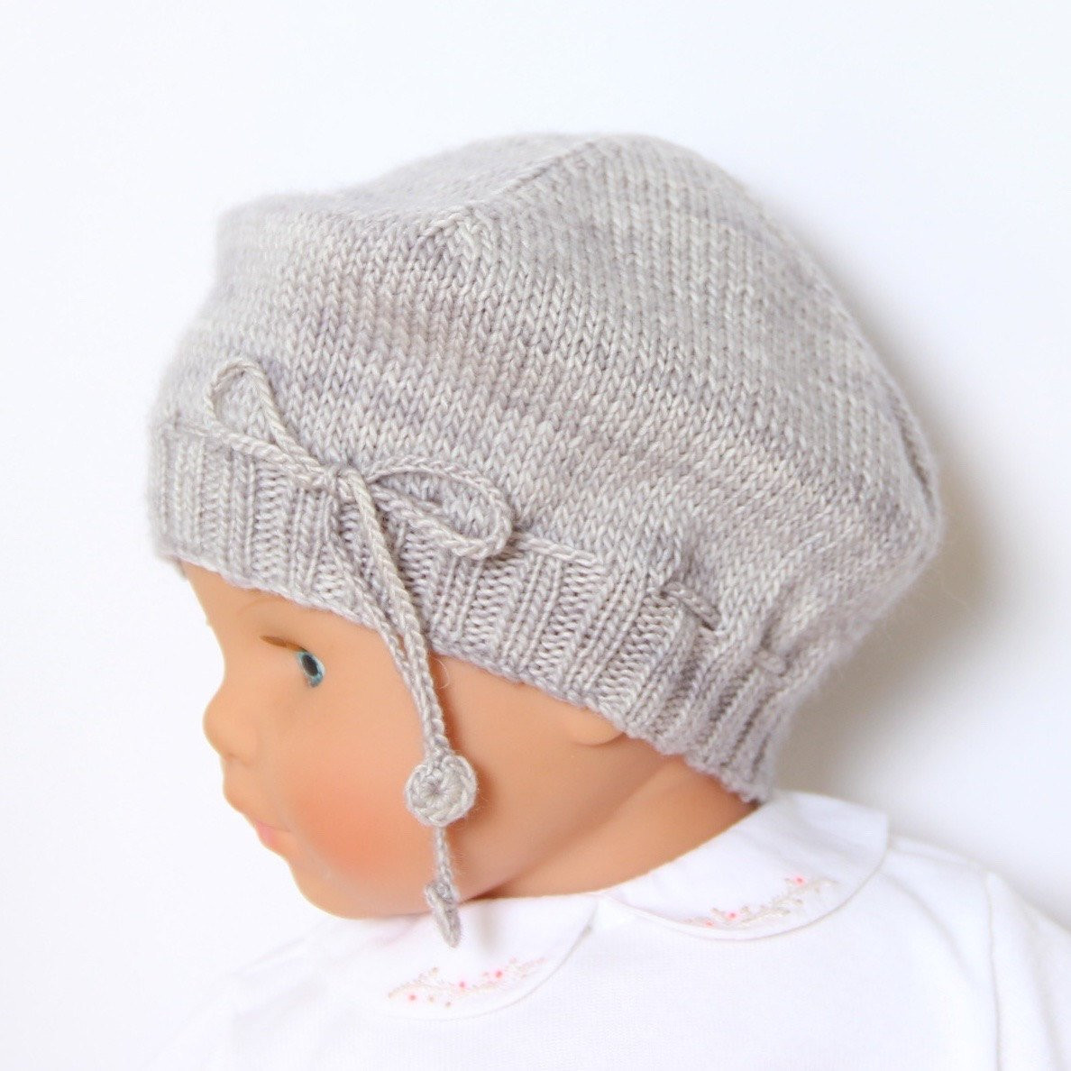Baby Hat Knitting Pattern Instructions in English PDF