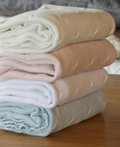 baby knitted cotton blankets