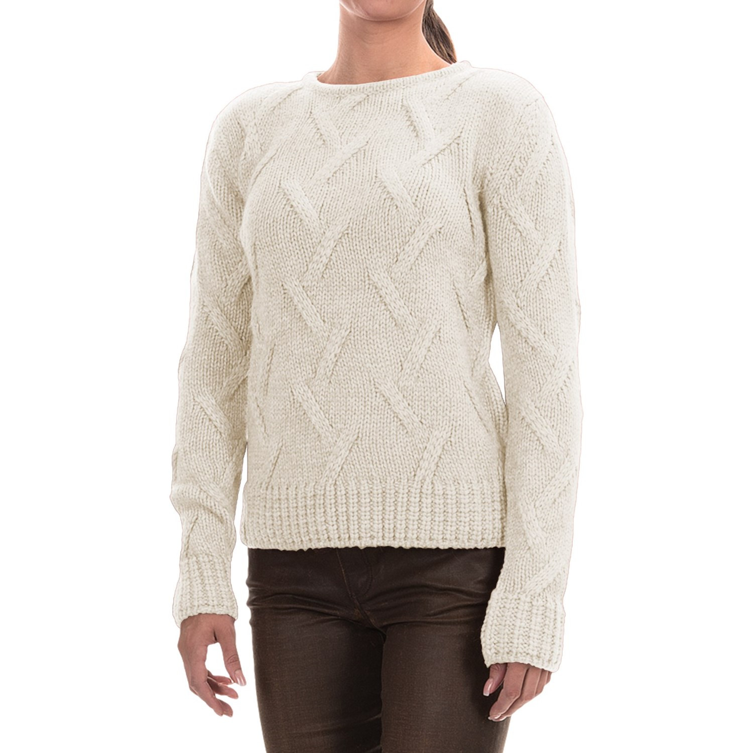 Fresh Barbour Ratio Cable Knit Sweater for Women Save Ladies Cable Knit Sweater Of Charming 49 Photos Ladies Cable Knit Sweater
