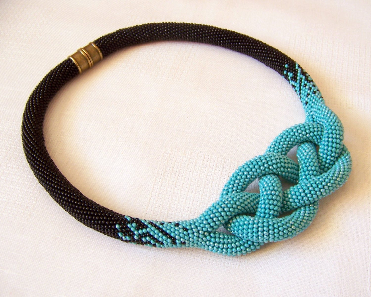 Fresh Beaded Crochet Josephine Knot Rope Necklace Beadwork Crochet Bead Necklaces Of Unique 44 Photos Crochet Bead Necklaces