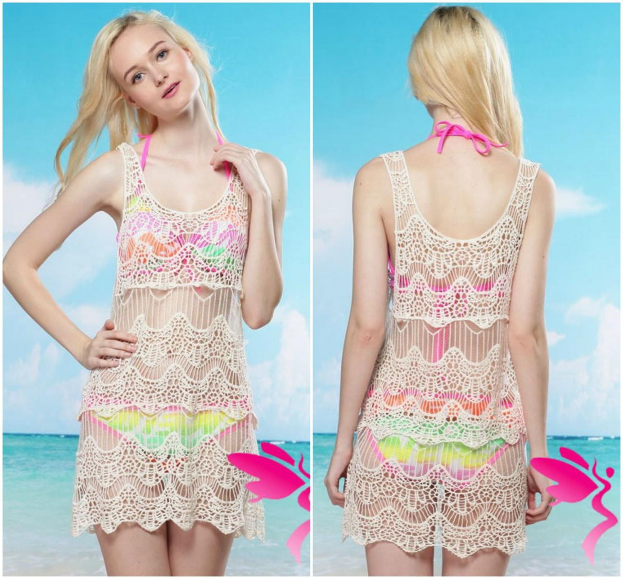 Fresh Beautiful Crochet Lace Swimsuit Beach Cover Up On Luulla Crochet Swimsuit Of Amazing 40 Images Crochet Swimsuit