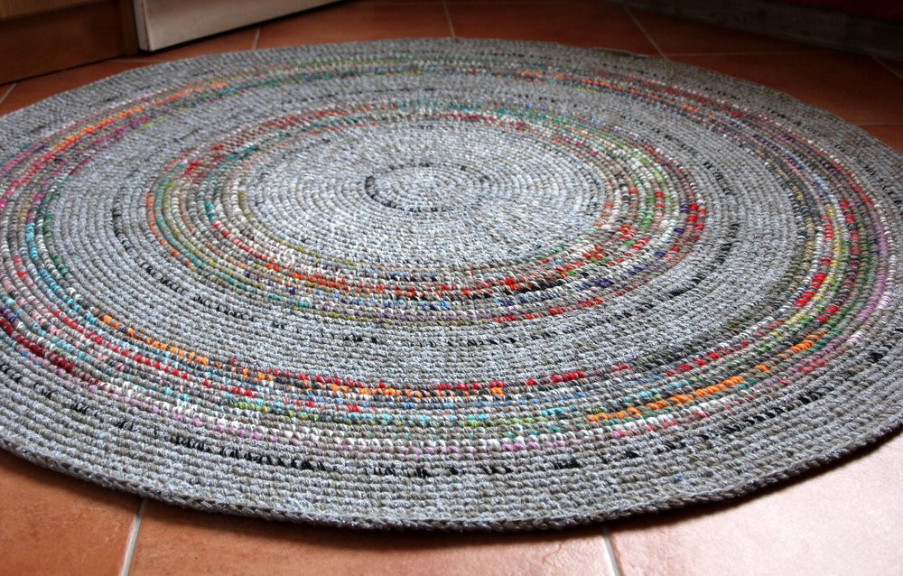 Fresh Beautiful Round Hand Crochet Wool Rug Grey with Colorful Hand Crochet Rug Of Contemporary 41 Models Hand Crochet Rug