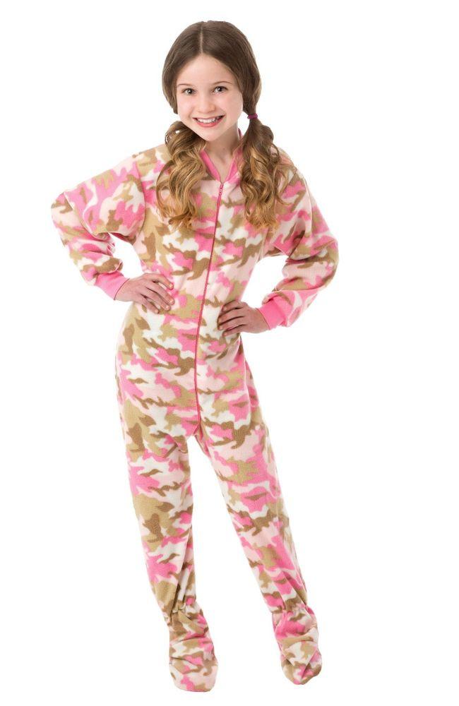 Fresh Big Feet Pjs Infant & toddler Pink Camo Fleece Footed Baby Pajamas with Feet Of Delightful 40 Photos Baby Pajamas with Feet