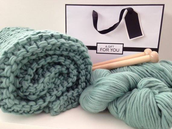 Fresh Blanket Knit Kit Super Chunky Diy Giant by Woolcouture Pany Chunky Knit Blanket Kit Of Amazing 46 Images Chunky Knit Blanket Kit