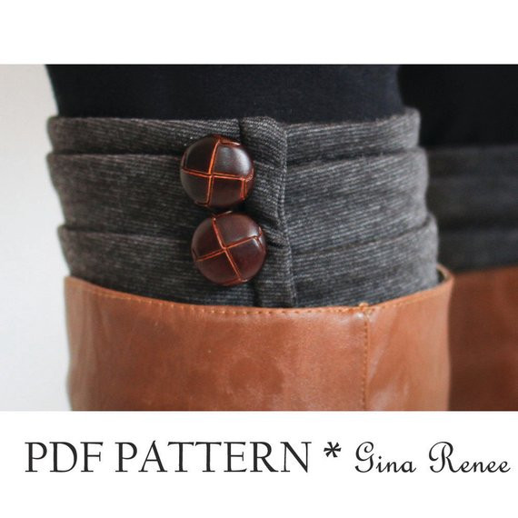 Boot Cuff Sewing Pattern Womens Boot sock PDF Sewing Pattern