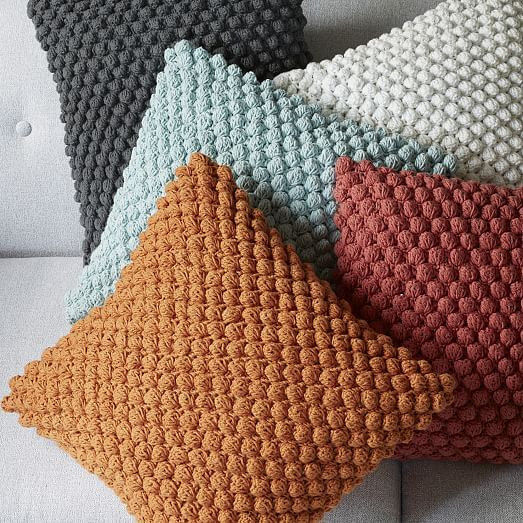 Fresh Bubble Knit Crocheted Pillow Cover Pale Harbor Crochet Pillow Covers Of Incredible 47 Pics Crochet Pillow Covers