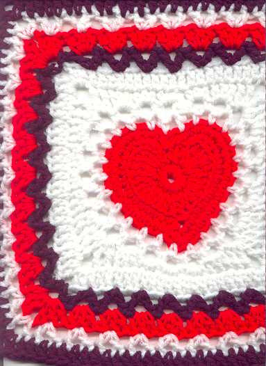 Fresh buttons and Bows Online Free Pattern Center Heart Square Heart Granny Square Of Brilliant 41 Pictures Heart Granny Square
