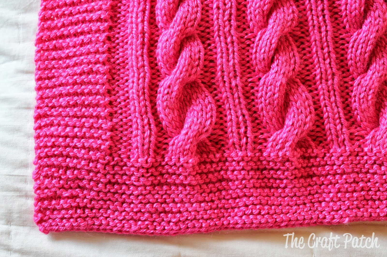 Cable Knit Baby Blanket thecraftpatchblog