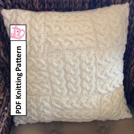 Fresh Cable Knit Pillow Cover Knit Pattern Pdf Braided Blocks Knit Pillow Cover Pattern Of Amazing 45 Pics Knit Pillow Cover Pattern