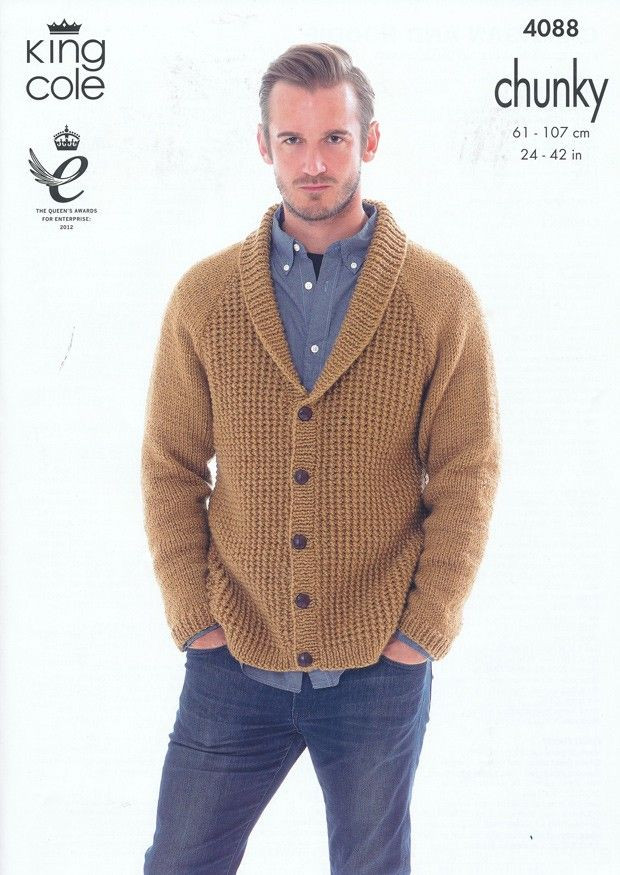 Fresh Cardigan and Hoo In King Cole Big Value Chunky 4088 Mens Cardigan Knitting Pattern Of Unique 44 Models Mens Cardigan Knitting Pattern