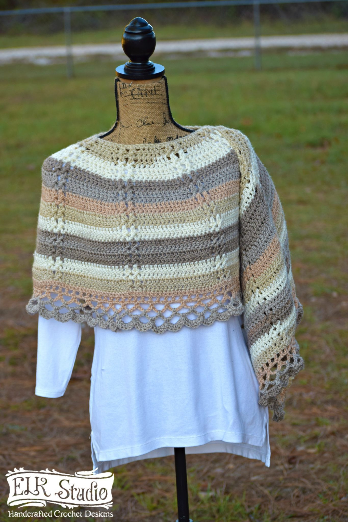 Caron Cakes and Delightfully Southern Shawl by ELK Studio