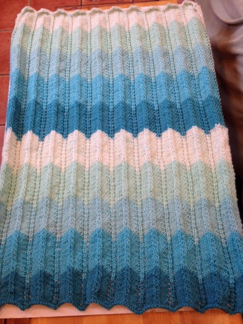 Caron Cakes Baby Blanket Finished