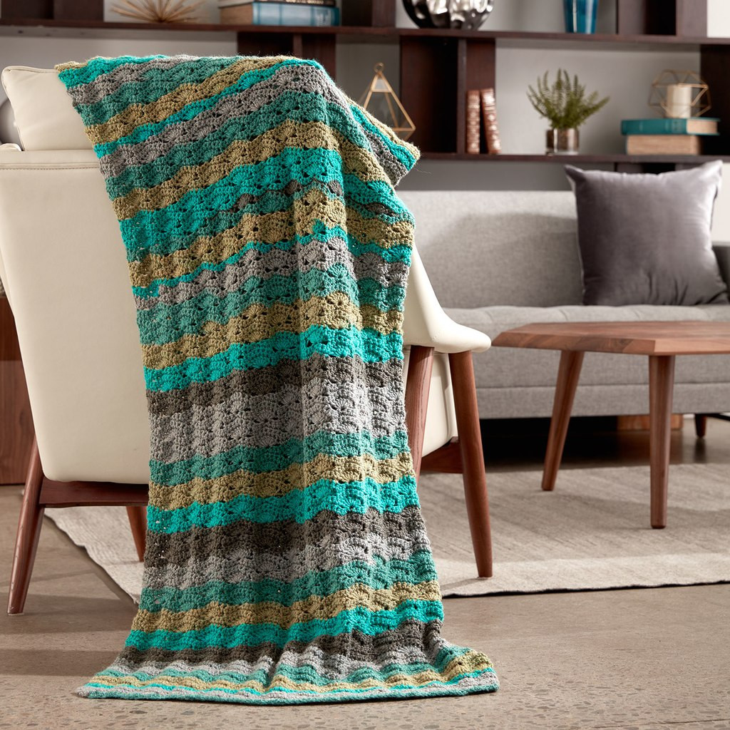 Fresh Caron Cakes™ Wavy Crochet Afghan In Zucchini Loaf Caron Cakes Blanket Patterns Of Amazing 50 Images Caron Cakes Blanket Patterns