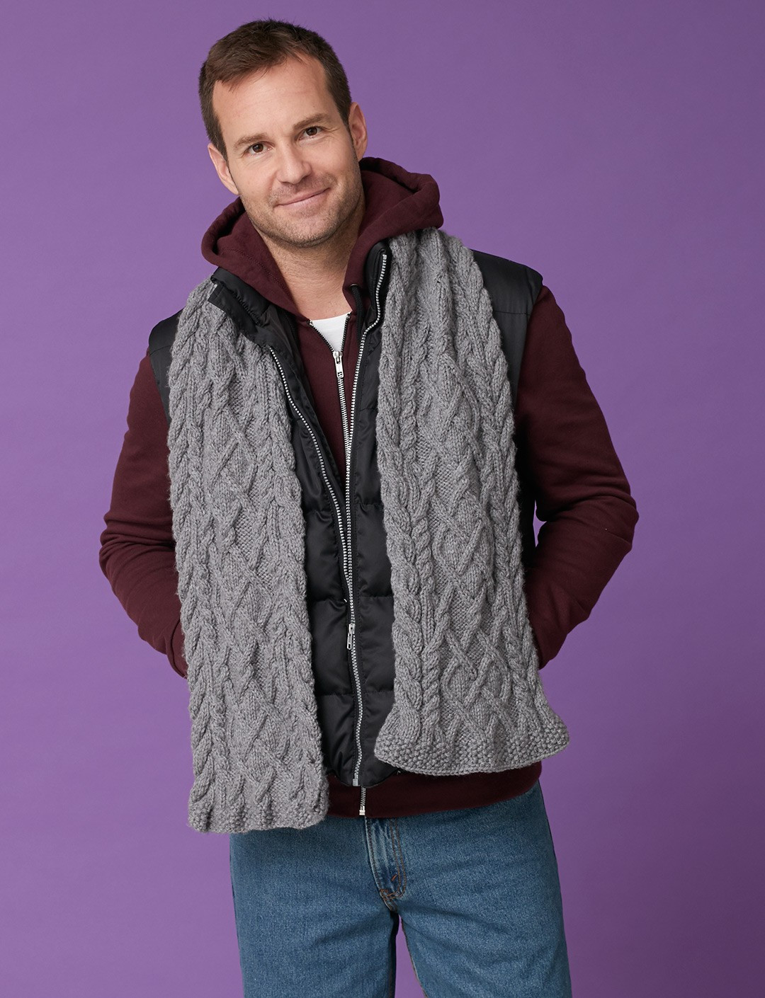 Fresh Caron Men S Cabled Scarf Knit Pattern Cable Scarf Of Innovative 49 Ideas Cable Scarf