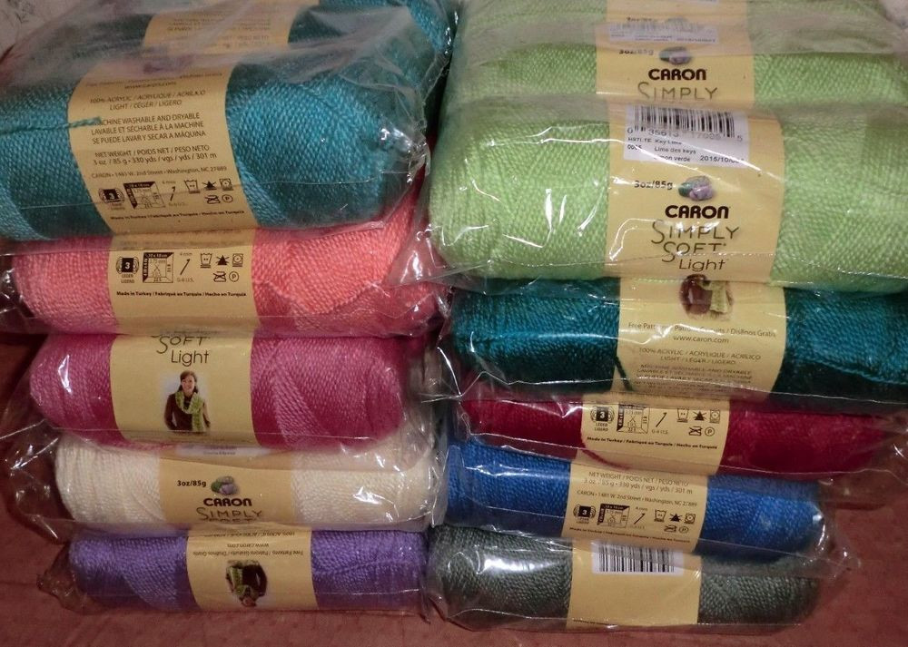 Fresh Caron Simply soft Light Yarn Lot Of 3 Skeins 3 Oz Each Caron Yarn Colors Of Attractive 45 Pictures Caron Yarn Colors