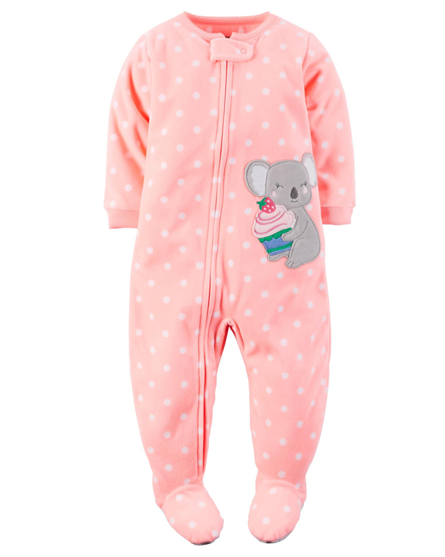 Carter s Infant & Toddler Girls Fleece Footed Pajamas