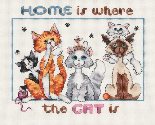 Cat Cross Stitch Kits Love Cats Declare Your Love And