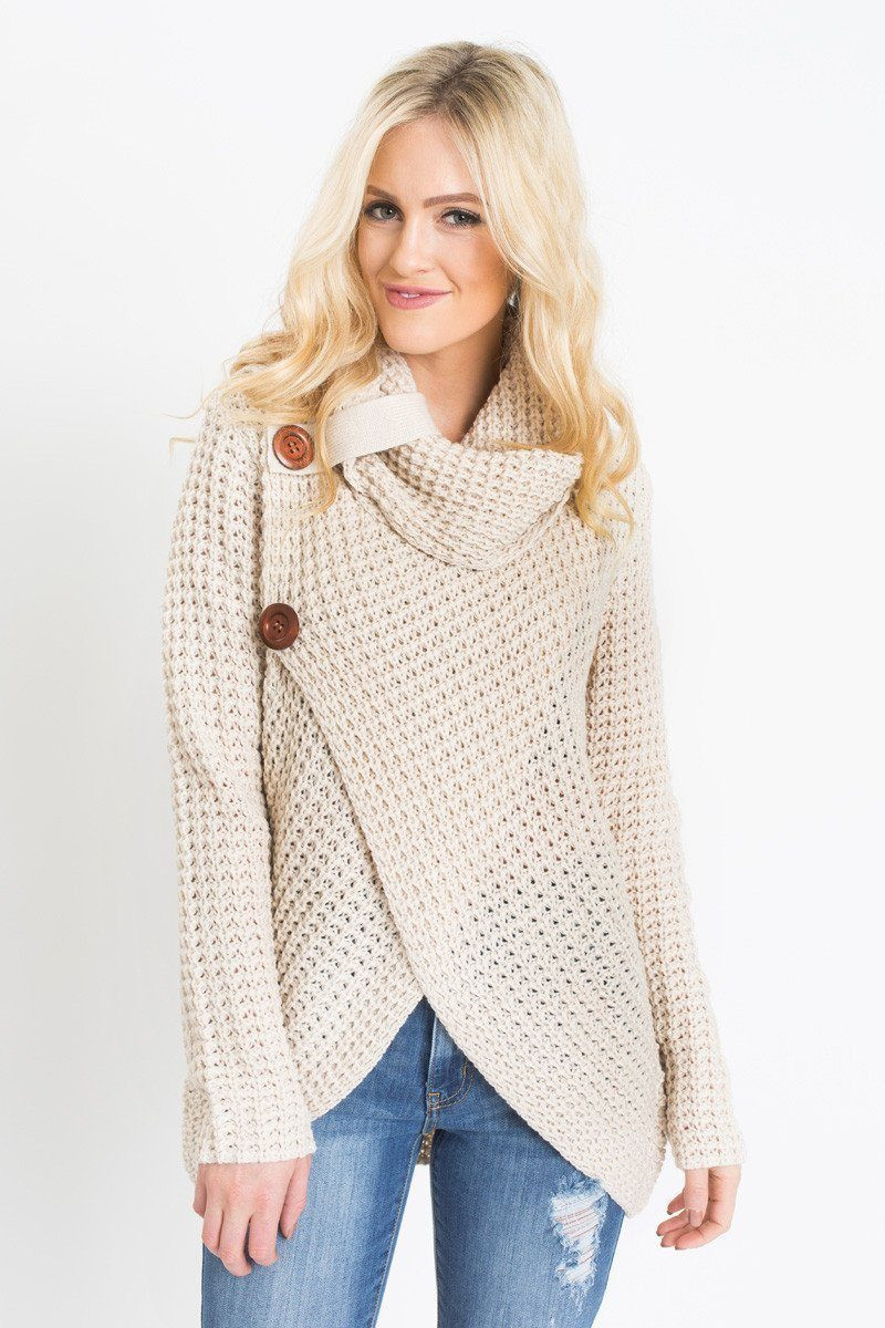 Fresh Cece Beige Knit Cowl Neck Sweater Morning Lavender Cowl Neck Knit Sweater Of Top 42 Pictures Cowl Neck Knit Sweater
