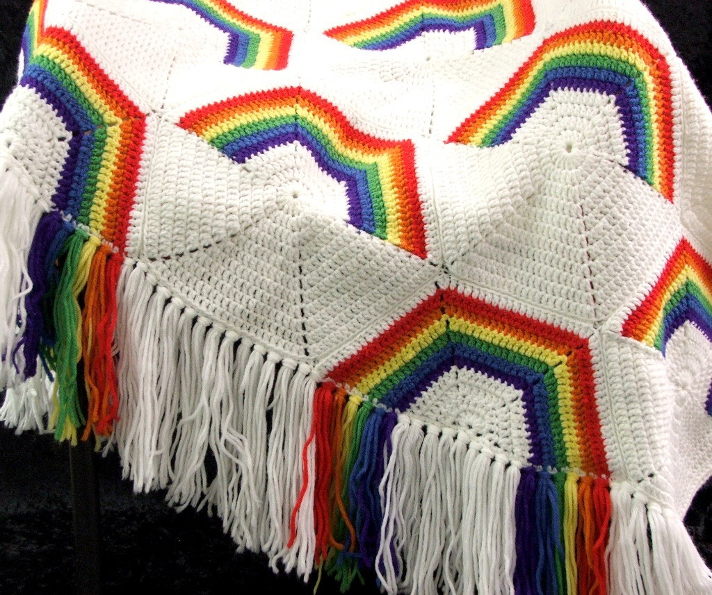 Fresh Celestial Wonders Crochet Rainbow Afghan Pillows Rainbow Crochet Blanket Of Great 40 Photos Rainbow Crochet Blanket