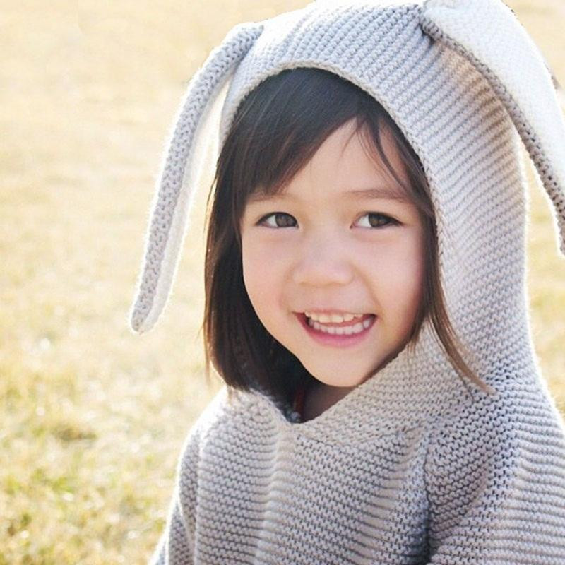 Fresh Children S Clothing Knitted Sweater Rabbit Ear Hooded Children's Knitted Hats Of Fresh 47 Images Children's Knitted Hats