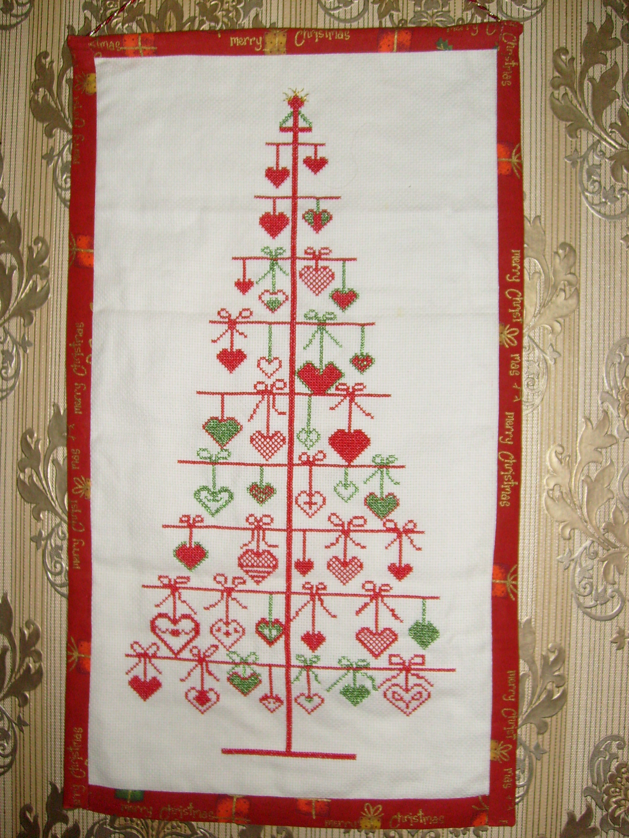 Fresh Christmas Tree Of Hearts – Sew Rosey Christmas Cross Stitch Patterns Of Charming 48 Pics Christmas Cross Stitch Patterns